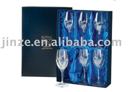 Champagne glass gift boxes