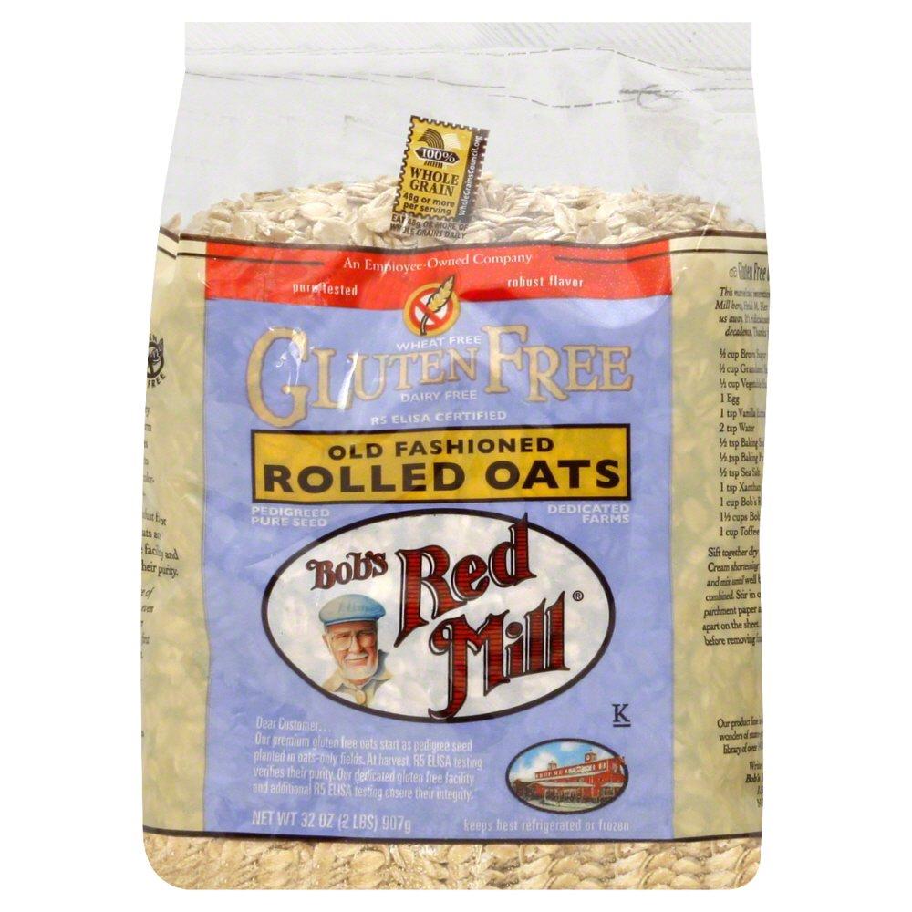 Is whole grain rolled oats gluten free