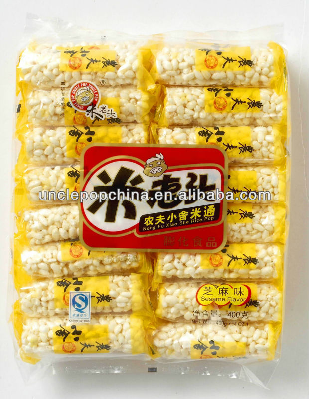 Chinese traditional snack 400g sweet rice cracker (sesame flavor)