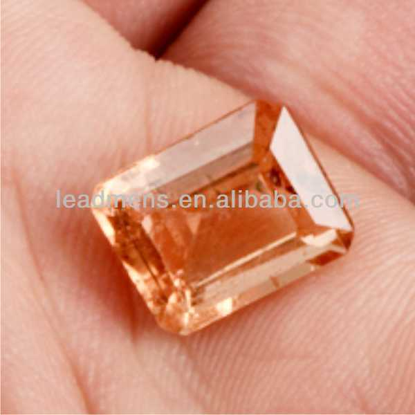 champagne European brilliant octagon shape Cubic Zirconia cz stone synthetic rough Gemstone Beads ge