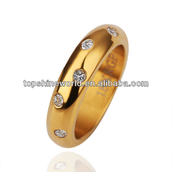 fashion champagne band ring