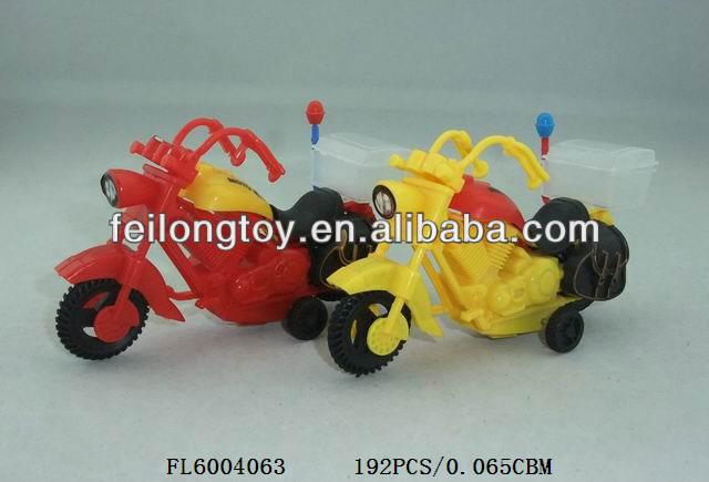 Pull back motorbike design sweet candy toy