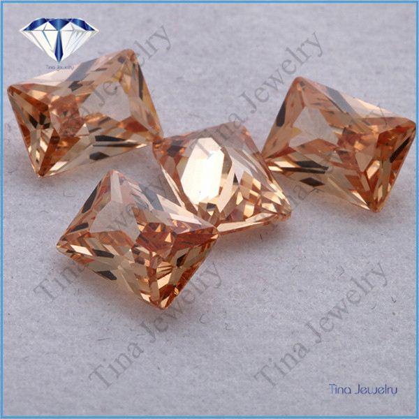 champagne colored cubic zirconia stone