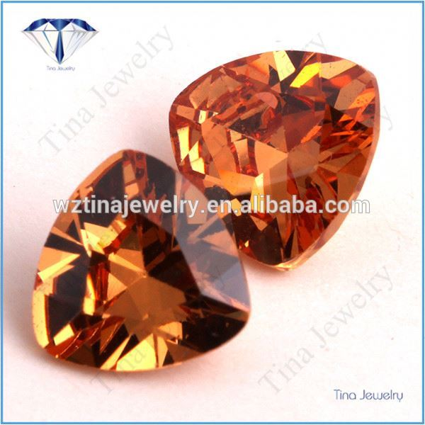 champagne trillion synthetic cubic zirconia