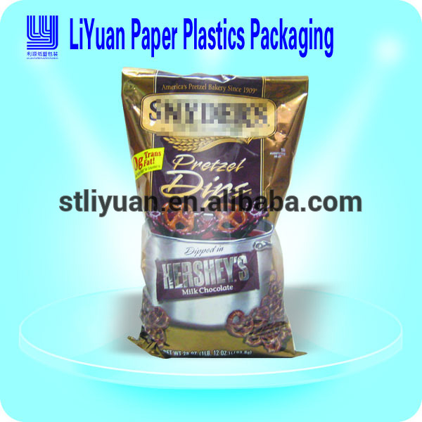 Gravure printed plastic zipper stand up bag for chocolate bar packaging material