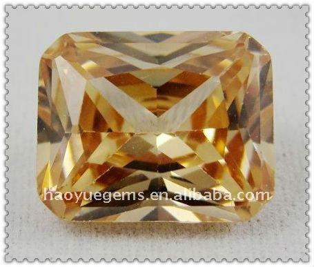 square champagne cubic zirconia the USA 1 carat