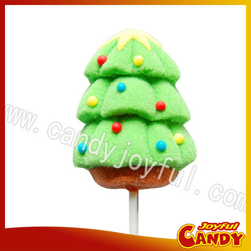 Christmas tree marshmallow lollipop candy