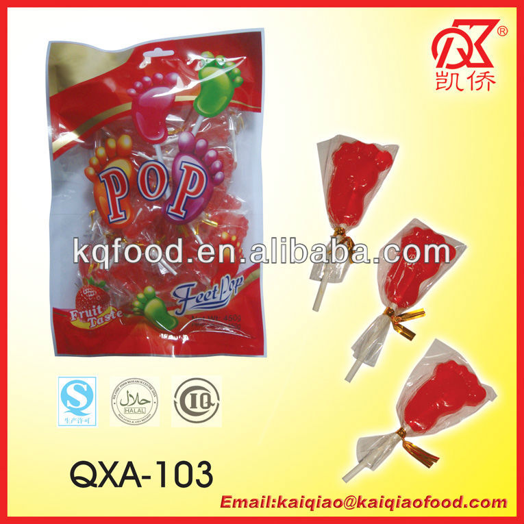 9g Halal Foot Shape Sweet Products