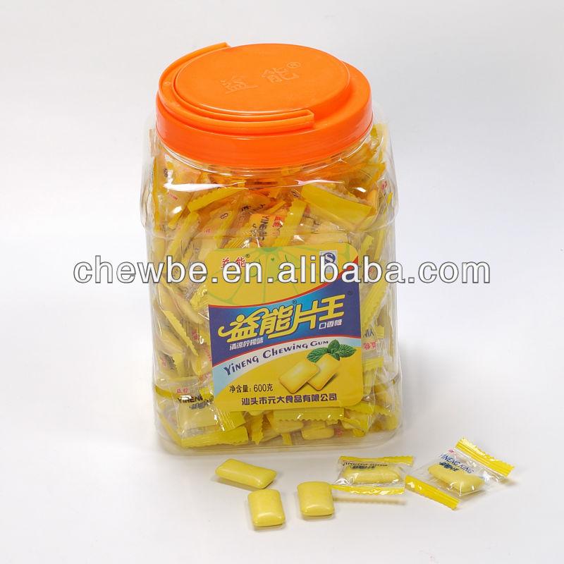 shimmer yellow lemon chewing gum