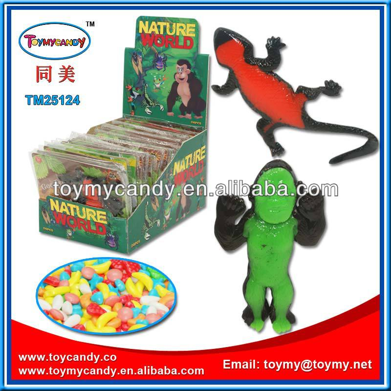 Nature world mini rubber animals candy toy from Shantou China exporter natural world mini toy animal