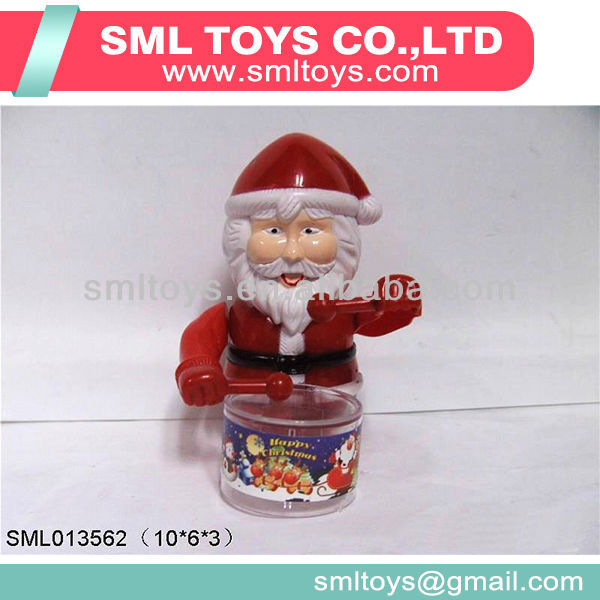Santa Claus candy toys drums with sugar inside christmas candy toys