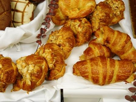 Wholesale, Almond Croissant assorted, croissants, bagels, muffin, danish, donuts, cakes, breads, sco