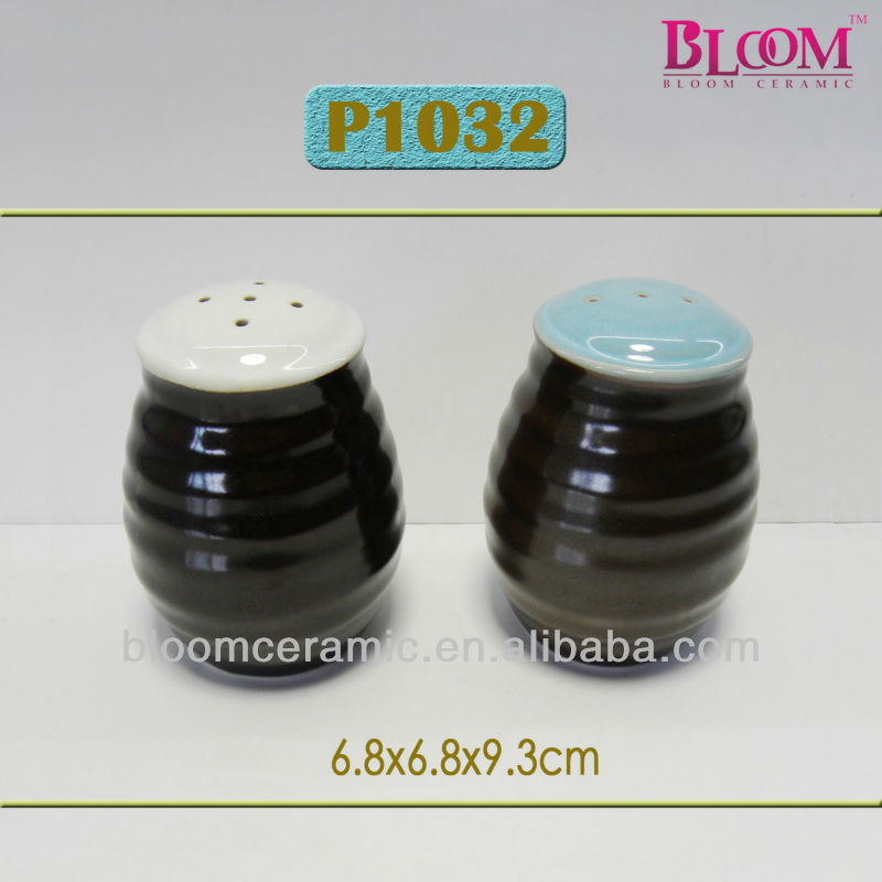 Ceramic Funny Salt Pepper Shakers Black Products China