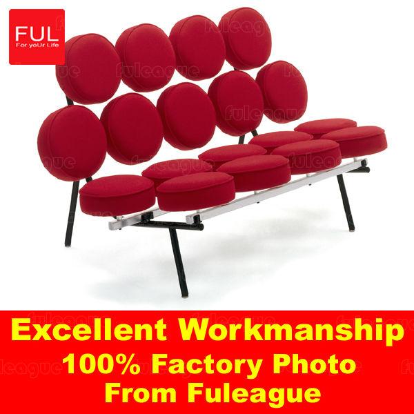 Leather Marshmallow sofa modern sofa set