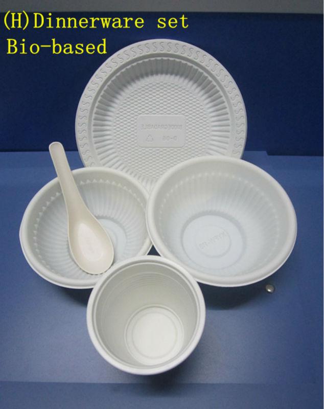 corn starch biodegradable disposable dinnerware set