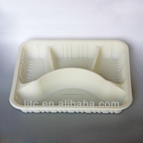 Corn starch Bio-based Disposable Lunch box 220*189*40mm/ 900ml