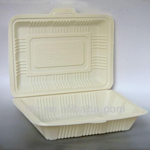 Corn starch Bio-based Disposable Lunch box 165*115*55mm/ 450ml