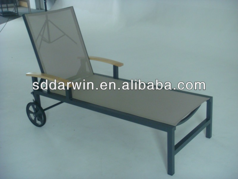 Wooden furniture lounge chair outdoor bed(DW-CL021)