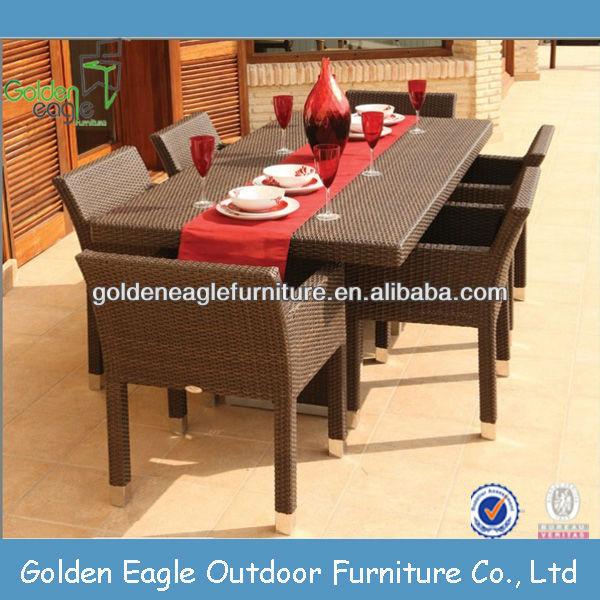 cheap outdoor furniture rattan dining set