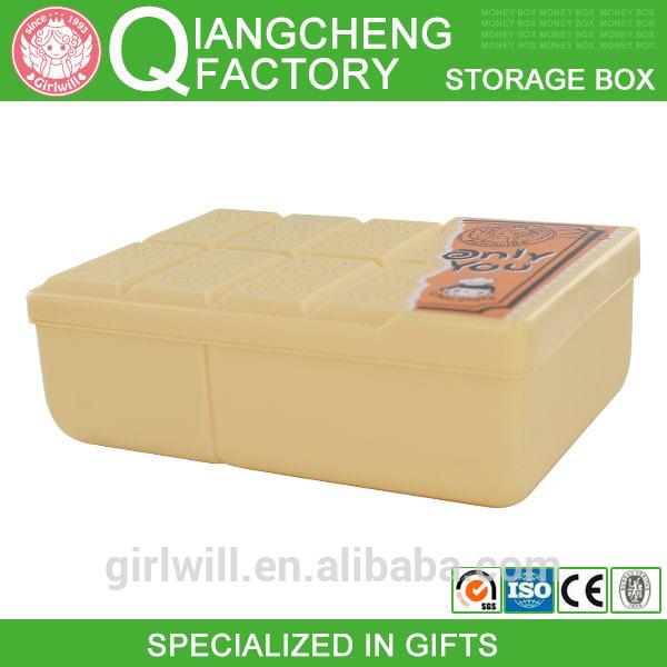 2014 Guangzhou contair fair Chocolate bar book size plastic drawer storage box