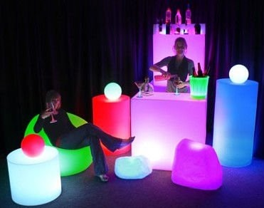 LED furniture/LED bar furniture/snickers chocolate bar tables and chairs