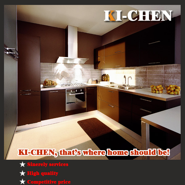 Best selling dark chocolate high gloss lacquer kitchen for Best lacquer for kitchen cabinets