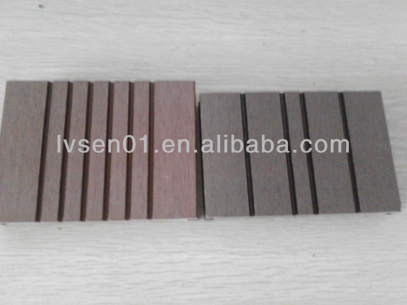 WPC solid hollow grooved wpc flooring outdoor decking 140*21mm