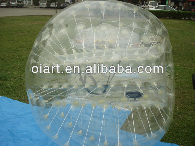 Inflatable soccer bubble, body zorb
