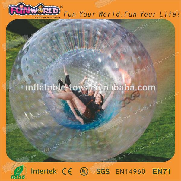 Custom inflatable bubble football, body zorb ball