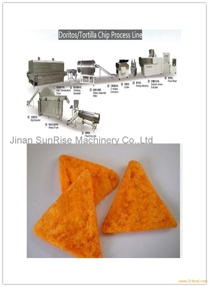 ully tortilla chips food production line/planting machine with fryer with CE Skype:sherry1017929