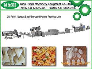 2D 3D Snacks Pellets Food Processing Machinery