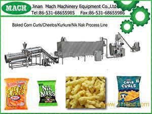 Kurkure/ cheetos/ niknak /corn curl snack processing line