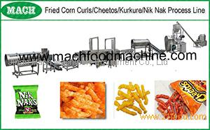 Extruded corn kurkure cheetos snacks food making line