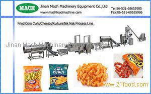 Corn curls, Cheese curls, Nik naks making machines