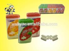 Fruity bubble chewing gum good for tooth
