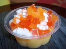 Mango flavor instant jelly powder