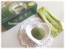 Japanese green  juice   ingredients  are barley mulberry sasa veitchii melon placenta pineapple ceramide