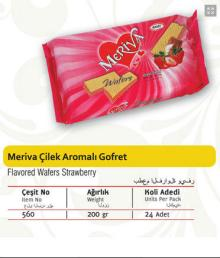 Meriva Wafers With Strawberry Flavored