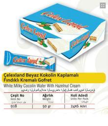 Celex Land White Milkly Cocolin With Hazelnut Cream Wafers