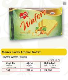 Meriva Wafers With Hazelnut Flavored