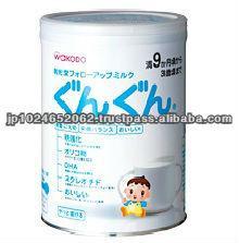Safety and a quality wakodo gungun baby milk formula made in Japan