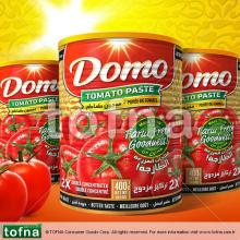 Domo Purest Tomato Paste, 300gr*12, Twist-off lid with Paper Label in healthy glass jar