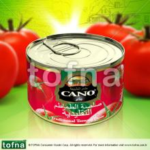Cano Traditional Tomato Paste, 210gr*48, easy/hard open within litographed tin can