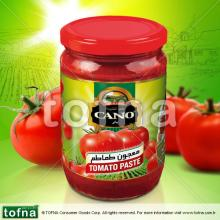 Cano Traditional Tomato Paste, 300gr*12, Twist-off lid with Paper Label within healthy glass jar