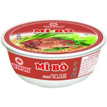 Beef Flavor Instant Noodle In Bowl