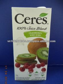 Ceres 100% Pure Juice Blend Cranberry and Kiwi 1L - No Sugar Added