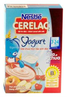 NESTLE CERELAC YOGURT MIXED APPLE AND CHERRY INFANT CEREAL WITH MILK BOX 200G