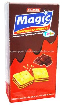 MAGIC TWIN CRACKER SANDWICH CHOCOLATE FLAVOURED CREAM BOX 210G/MAGIC COOKIES/MAGIC BISCUITS