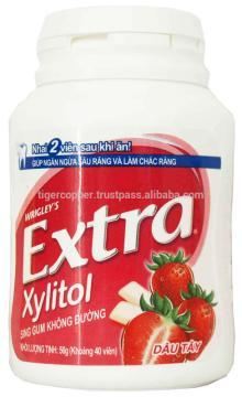 EXTRA XYLITOL STRAWBERRY GUM JAR 56G/WRIGLEYS CHEWING GUM/SUGAR FREE XYLITOL GUM