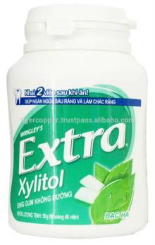 EXTRA XYLITOL PEPPERMINT GUM JAR 56G/WRIGLEYS CHEWING GUM/SUGAR FREE XYLITOL GUM